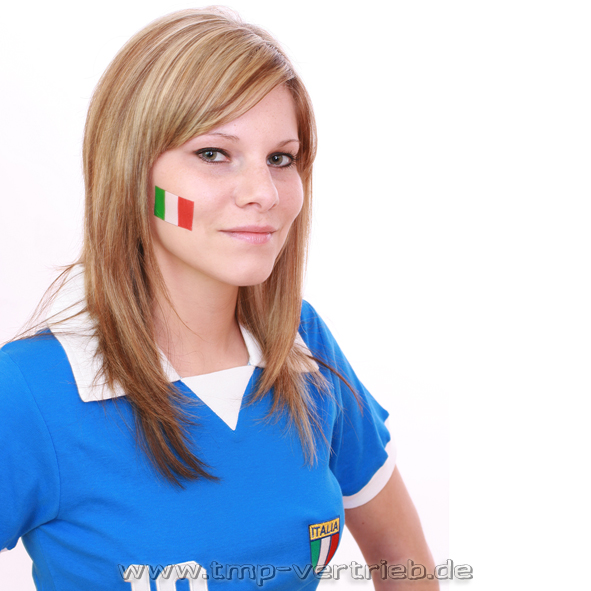 Italien Fan Tattoo Fahne